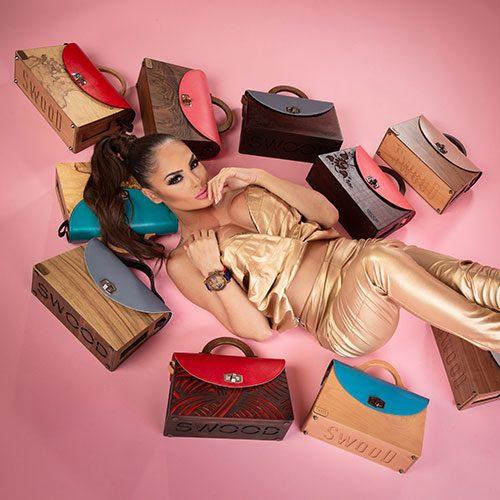 Дървени дамски чанти